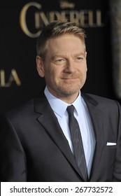 """LOS ANGELES, CA - MARCH 1, 2015: Director Kenneth Branagh at the world premiere of his movie """"Cinderella"""" at the El Capitan Theatre, Hollywood."""