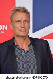 "LOS ANGELES, CA - MARCH 1, 2016: Actor Dolph Lundgren at the Los Angeles premiere of ""London Has Fallen"" at the Cinerama Dome, Hollywood."