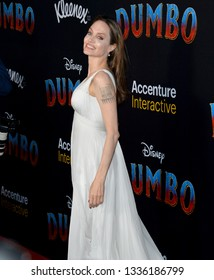 """LOS ANGELES, CA. March 11, 2019: Angelina Jolie at the world premiere of """"Dumbo"""" at the El Capitan Theatre.Picture: Paul Smith/Featureflash"""