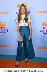 LOS ANGELES, CA. March 11, 2017: Dancer Maddie Ziegler at the Nickelodeon 2017 Kids' Choice Awards at the USC's Galen Centre, Los Angeles