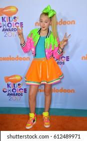 LOS ANGELES, CA. March 11, 2017: Actress Jojo Siwa at the Nickelodeon 2017 Kids' Choice Awards at the USC's Galen Centre, Los Angeles