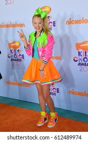 LOS ANGELES, CA. March 11, 2017: Actress Jojo Siwa at the Nickelodeon 2017 Kids' Choice Awards at the USC's Galen Centre, Los Angeles