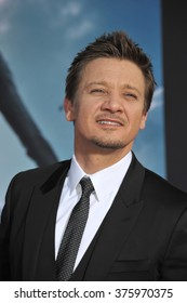 """LOS ANGELES, CA - MARCH 13, 2014: Jeremy Renner at the world premiere of """"Captain America: The Winter Soldier"""" at the El Capitan Theatre, Hollywood."""