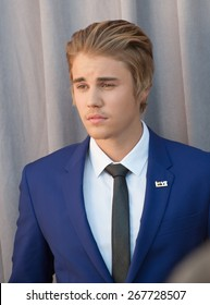 LOS ANGELES, CA - MARCH 14, 2015: Singer Justin Bieber at the Comedy Central Roast of Justin Bieber at Sony Studios, Culver City.