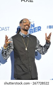 LOS ANGELES, CA - MARCH 14, 2015: Snoop Dogg at the Comedy Central Roast of Justin Bieber at Sony Studios, Culver City.