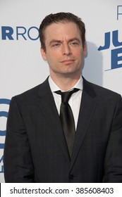 LOS ANGELES, CA - MARCH 14, 2015: Justin Kirk at the Comedy Central Roast of Justin Bieber at Sony Studios, Culver City.
