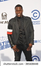LOS ANGELES, CA - MARCH 14, 2015: Kevin Hart at the Comedy Central Roast of Justin Bieber at Sony Studios, Culver City.
