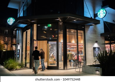Los Angeles, CA:  March 15, 2018:  Starbucks Reserve store in Los Angeles. Starbucks has plans to open several hundred Starbucks Reserve stores in the world.
