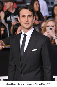 """LOS ANGELES, CA - MARCH 18, 2014: Ben Lloyd-Hughes at the Los Angeles premiere of his movie """"Divergent"""" at the Regency Bruin Theatre, Westwood."""