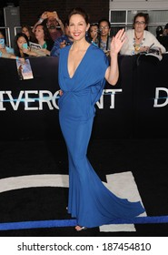 """LOS ANGELES, CA - MARCH 18, 2014: Ashley Judd at the Los Angeles premiere of her movie """"Divergent"""" at the Regency Bruin Theatre, Westwood."""