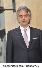 LOS ANGELES, CA - MARCH 2, 2010: Andrea Bocelli on Hollywood Boulevard where he was honored with the 2,402nd star on the Hollywood Walk of Fame.