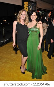 """LOS ANGELES, CA - MARCH 2, 2009: Carla Gugino (right) & Marley Shelton at the US premiere of Gugino's new movie """"Watchmen"""" at Grauman's Chinese Theatre, Hollywood."""