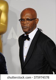 LOS ANGELES, CA - MARCH 2, 2014: Samuel L. Jackson at the 86th Annual Academy Awards at the Dolby Theatre, Hollywood.