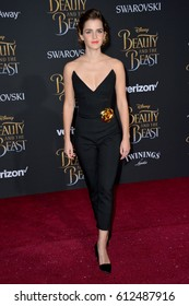 "LOS ANGELES, CA. March 2, 2017: Actress Emma Watson at the premiere for Disney's ""Beauty and the Beast"" at the El Capitan Theatre, Hollywood."