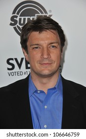 """LOS ANGELES, CA - MARCH 21, 2011: Nathan Fillion at the Los Angeles premiere of his new movie """"Super"""" at the Egyptian Theatre, Hollywood. March 21, 2011  Los Angeles, CA"""