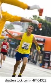 LOS ANGELES, CA - MARCH 22: Runner at 2010 LA marathon on March 22, 2010 in Los Angeles, California.