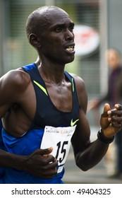 LOS ANGELES, CA - MARCH 22: Thomas Chemitei, rank #15 at 2010 LA marathon on March 22, 2010 in Los Angeles, California.