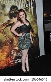 """LOS ANGELES, CA - MARCH 23, 2011: Jennifer Stone at the Los Angeles premiere of """"Sucker Punch"""" at Grauman's Chinese Theatre, Hollywood. March 23, 2011  Los Angeles, CA"""