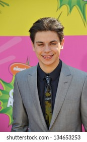 LOS ANGELES, CA - MARCH 23, 2013: Jake T. Austin at Nickelodeon's 26th Annual Kids' Choice Awards at the Galen Centre, Los Angeles.