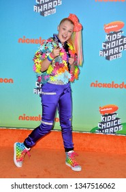LOS ANGELES, CA. March 23, 2019: JoJo Siwa at Nickelodeon's Kids' Choice Awards 2019 at USC's Galen Center.