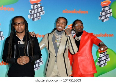 LOS ANGELES, CA. March 23, 2019: Migos, Takeoff, Quavo & Offset at Nickelodeon's Kids' Choice Awards 2019 at USC's Galen Center.Picture: Paul Smith/Featureflash