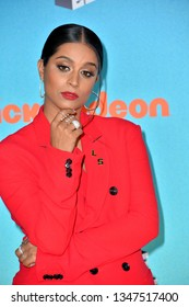 LOS ANGELES, CA. March 23, 2019: Lilly Singh at Nickelodeon's Kids' Choice Awards 2019 at USC's Galen Center.