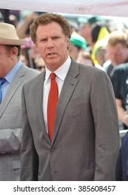 LOS ANGELES, CA - MARCH 24, 2015: Will Ferrell on Hollywood Boulevard where he was honored with the 2,547th star on the Hollywood Walk of Fame.