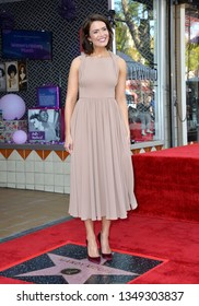 LOS ANGELES, CA. March 25, 2019: Mandy Moore at the Hollywood Walk of Fame Star Ceremony honoring actress & singer Mandy Moore.Pictures: Paul Smith/Featureflash