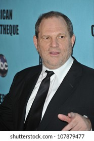 LOS ANGELES, CA - MARCH 27, 2010: Producer Harvey Weinstein at the 24th Annual American Cinematheque Award Gala, where Matt Damon was honored, at the Beverly Hilton Hotel.