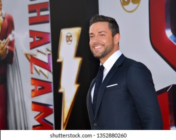 LOS ANGELES, CA. March 28, 2019: Zachary Levi at the world premiere of Shazam! at the TCL Chinese Theatre.Picture: Paul Smith/Featureflash