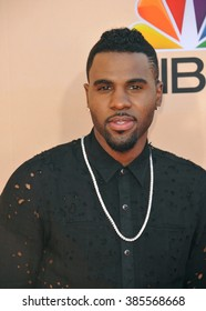 LOS ANGELES, CA - MARCH 29, 2015: Jason Derulo at the 2015 iHeart Radio Music Awards at the Shrine Auditorium.