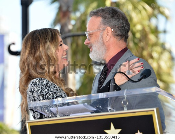 LOS ANGELES, CA. March 29, 2019: Rita Wilson & Tom Hanks at the Hollywood Walk of Fame Star Ceremony honoring actress Rita Wilson.Pictures: Paul Smith/Featureflash