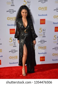 LOS ANGELES, CA. March 30, 2019: Sanaa Lathan at the 50th NAACP Image Awards.