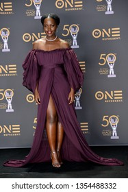 LOS ANGELES, CA. March 30, 2019: Lupita Nyong'o at the 50th NAACP Image Awards.Picture: Paul Smith/Featureflash