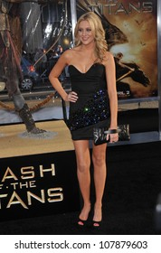 """LOS ANGELES, CA - MARCH 31, 2010: Stephanie Pratt at the Los Angeles premiere of """"Clash of the Titans"""" at Grauman's Chinese Theatre, Hollywood."""