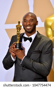 LOS ANGELES, CA - March 4, 2018: Kobe Bryant at the 90th Academy Awards Awards at the Dolby Theartre, Hollywood