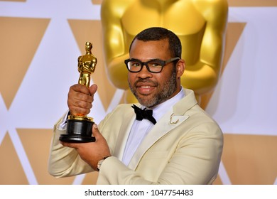 LOS ANGELES, CA - March 4, 2018: Jordan Peele at the 90th Academy Awards Awards at the Dolby Theartre, Hollywood