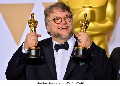 LOS ANGELES, CA - March 4, 2018: Guillermo del Toro at the 90th Academy Awards Awards at the Dolby Theartre, Hollywood