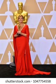 LOS ANGELES, CA - March 4, 2018: Allison Janney at the 90th Academy Awards Awards at the Dolby Theartre, Hollywood