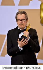 LOS ANGELES, CA - March 4, 2018: Gary Oldman at the 90th Academy Awards Awards at the Dolby Theartre, Hollywood