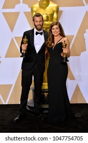 LOS ANGELES, CA - March 4, 2018: Chris Overton & Rachel Shenton at the 90th Academy Awards Awards at the Dolby Theartre, Hollywood