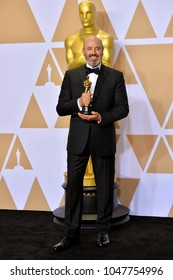 LOS ANGELES, CA - March 4, 2018: Mark Bridges at the 90th Academy Awards Awards at the Dolby Theartre, Hollywood