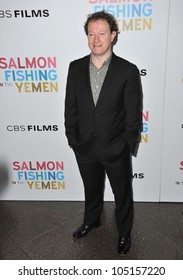 """LOS ANGELES, CA - MARCH 5, 2012: Screenwriter Simon Beaufoy at the US premiere of his movie """"Salmon Fishing in the Yemen"""" at the Directors Guild Theatre, West Hollywood March 5, 2012  Los Angeles, CA"""