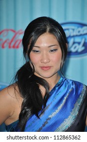 """LOS ANGELES, CA - MARCH 5, 2009: """"Glee"""" star Jenna Ushkowitz at the American Idol Final 13 Party at Area Nightclub, West Hollywood."""