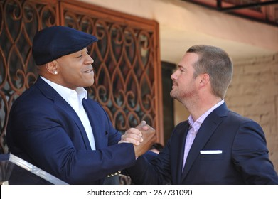 LOS ANGELES, CA - MARCH 5, 2015: Actor Chris O'Donnell & LL Cool J on Hollywood Boulevard where O'Donnell was honored with the 2,544th star on the Walk of Fame.