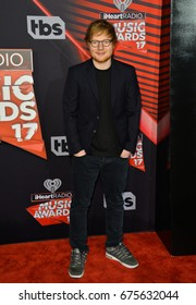 LOS ANGELES, CA - MARCH 5, 2017: Ed Sheeran at the 2017 iHeartRadio Music Awards at The Forum, Los Angeles