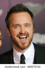 """LOS ANGELES, CA - MARCH 6, 2014: Aaron Paul at the U.S. premiere of his movie """"Need for Speed"""" at the TCL Chinese Theatre, Hollywood."""