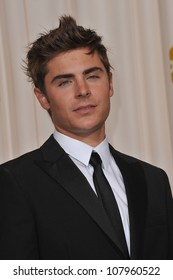 LOS ANGELES, CA - MARCH 7, 2010: Zac Efron at the 82nd Academy Awards at the Kodak Theatre, Hollywood.