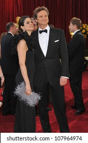 LOS ANGELES, CA - MARCH 7, 2010: Colin Firth & Livia Giuggioli at the 82nd Annual Academy Awards at the Kodak Theatre, Hollywood.