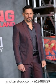 "LOS ANGELES, CA. March 8, 2017: Actor Joe Manganiello at the premiere for ""Kong: Skull Island"" at Dolby Theatre, Hollywood."